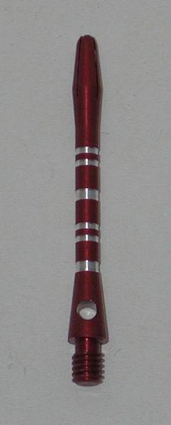 3 Sets (9 Shafts) Aluminum Striped Shafts - RED - Long - AR1, Colormaster