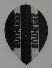 3 Sets (9 flights) Ruthless Embossed (Dimplex Style) Pear BLACK Flights - 4332