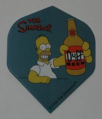 2 Set (6 flights) Simpsons Bart Homer Duff Standard Dart Flights - Simp04