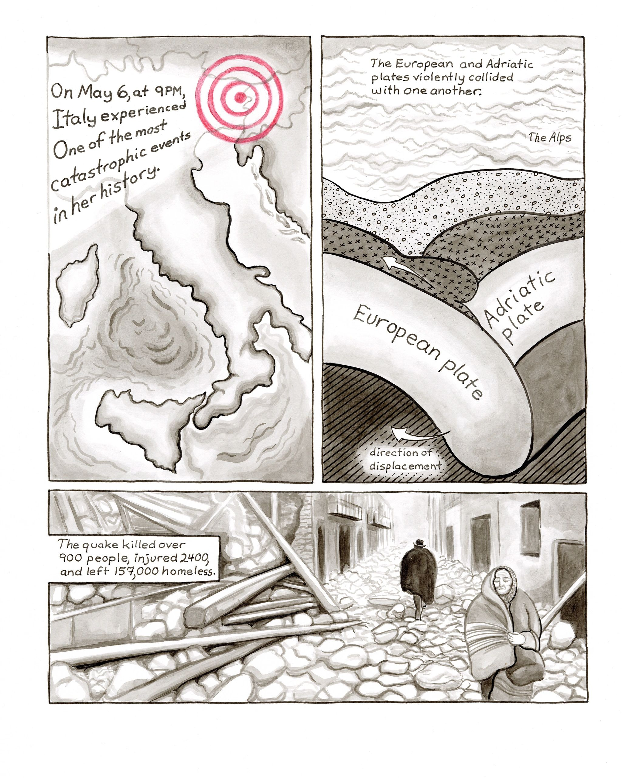 Page from The Baroness of Have-Nothing: Friuli Earthquake and Its Reverberations