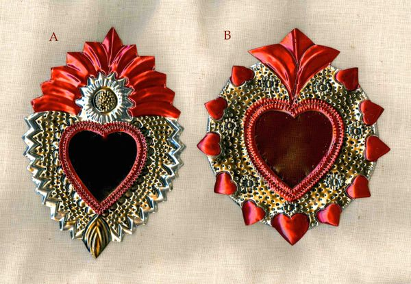 Tin Hearts with Mirror - small