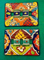 Talavera Switch Plate - triple