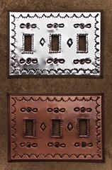 Tin Switch Plate - triple