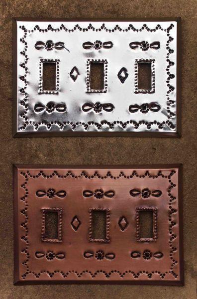 Tin Switch Plate - triple