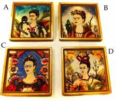 Frida Kahlo Glass Coasters