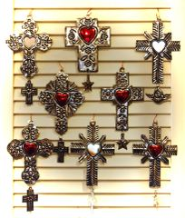 Tin Cross with Milagro