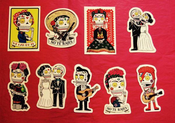 Calaveras Vinyl Stickers