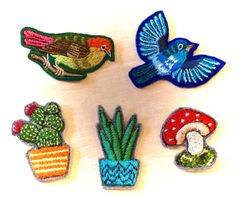 Hand Embroidered Brooches