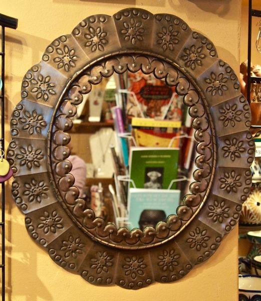 Tin Oval Mirror