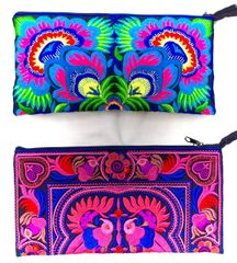 Bright Embroidered Bags - Clutch