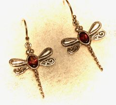 Dragonfly Garnet Earrings