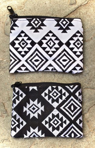 B&W Diamond Coin Purses