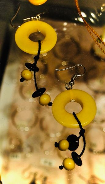 Tagua Hoops with Beads