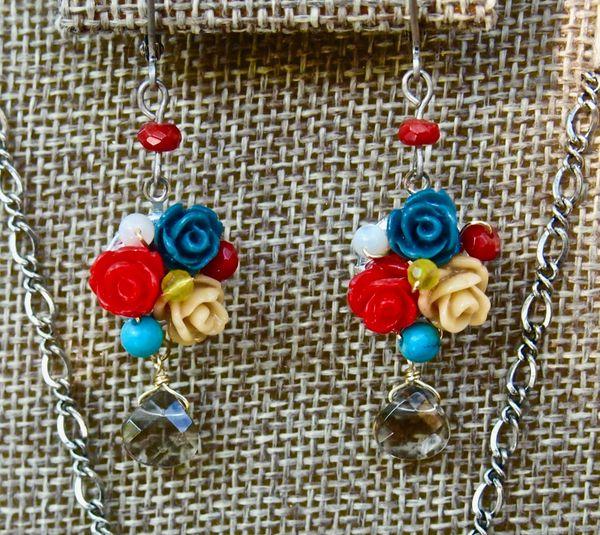 3 Roses Earrings