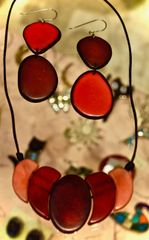 Burgundy Tagua Necklace