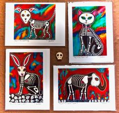 Animal Calaveras Greeting Cards