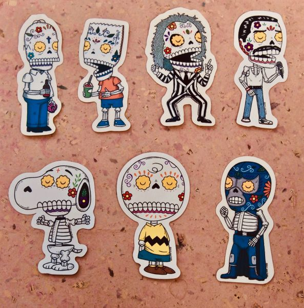 Calaveras Vinyl Stickers (some guys we like)