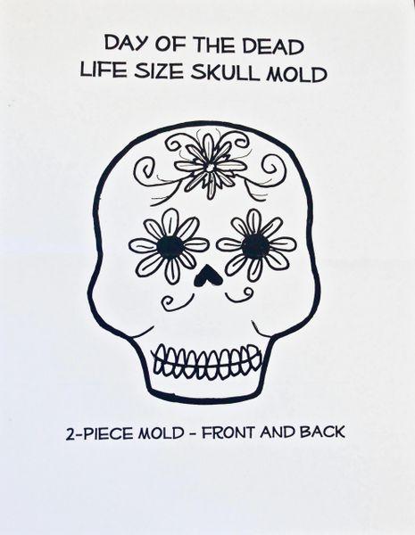 Sugar Skull Mold - Large 2 piece