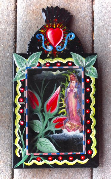 Fancy Nicho - Our Lady of Guadalupe with Roses