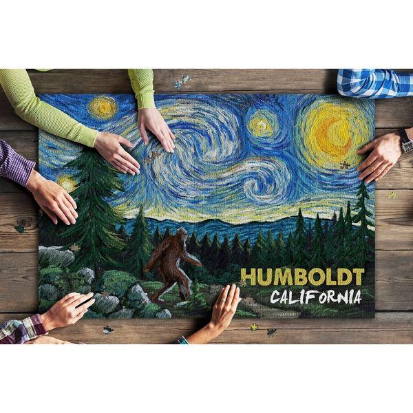 1000 Piece Puzzle Humboldt California, Bigfoot, Starry Night