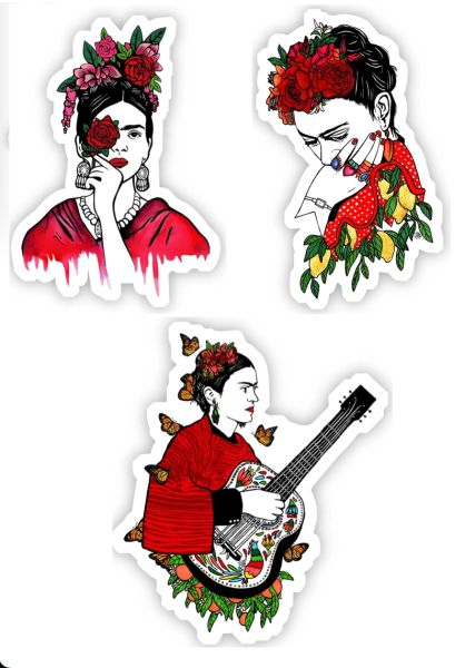 Frida Kahlo in Red Stickers