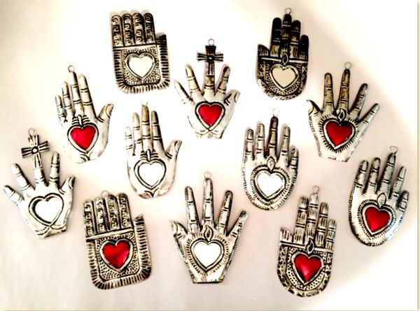 Tin Hands with Hearts
