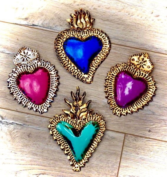 Painted Sacred Hearts