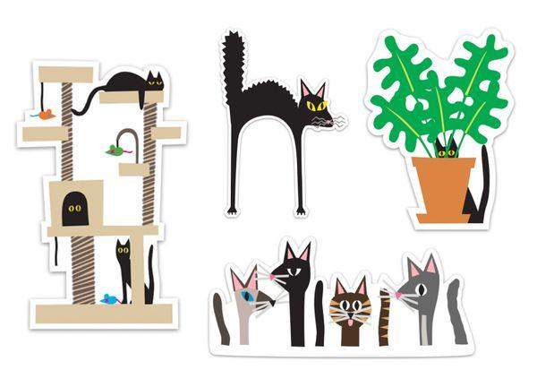 Bold Stickers II Cats