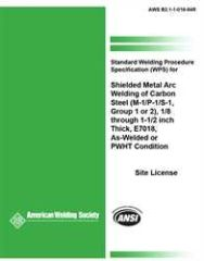 AWS- B2.1-1-016:1994 SWPS for Shielded Metal Arc Welding of Carbon Steel, (M-1/P-1/S-1, Group 1 or 2)