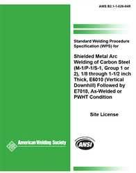 AWS- B2.1-1-026:1994 SWPS for Shielded Metal Arc Welding of Carbon Steel, (M-1/P-1/S-1, Group 1 or 2)