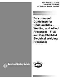 AWS- A5.01M/A5.01:2008 Procurement Guidelines for Welding Consumables