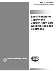 AWS- A5.7/A5.7M:2007 Copper and Copper-Alloy Bare Welding Rods and Electrodes