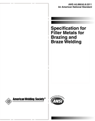 AWS- A5.8M/A5.8:2011 AMD1 Filler Metals for Brazing and Braze Welding