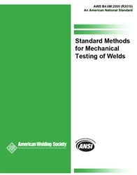 AWS- B4.0M:2000(R2010) Standard Methods for Mechanical Testing of Welds (Metric Customary Units), AWS