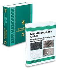 ASM-05316G-BK-SET Metallography Handbook and Book Set