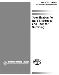 AWS- A5.21:2001 Bare Electrodes and Rods for Surfacing (Historical)