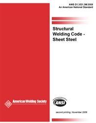 AWS- D1.3/D1.3M:2008 Structural Welding Code Sheet Steel