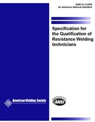 AWS- C1.5:2009 Specification for the Qualification of Resistance Welding Technicians