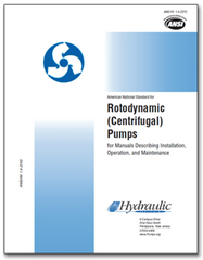 HI-B103 ANSI/HI 1.4-2014 Rotodynamic Centrifugal Pumps for Manuals Describing Installation, Operation and Maintenance