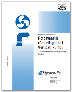 HI-A120 ANSI/HI 9.6.3-2012 Rotodynamic (Centrifugal and Vertical) Pumps - Guideline for Allowable Operating Region