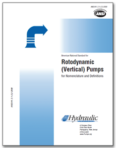 HI-B105 ANSI/HI 2.1-2.2-2014 Rotodynamic Vertical Pumps of Radial, Mixed, and Axial Flow Types for Nomenclature and Definitions