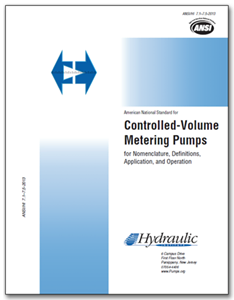 HI-A115 ANSI/HI 7.1-7.5-2013 Controlled-Volume Metering Pumps