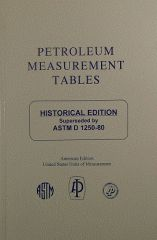 ADJD1250AM Adjunct to D1250 Petroleum Measurement Tables -- Historical Edition