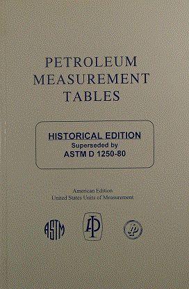 ADJD1250AM Adjunct to D1250 Petroleum Measurement Tables -- Historical Edition