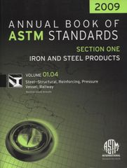 ASTM Standards, Annual Book of Standards, Section One: Iron and Steel Products, 2009 Edition, NEW!