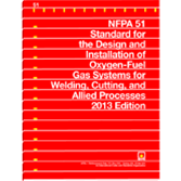 NFPA-51(13): Standard for the Design and Installation of Oxygen-Fuel Gas Systems for Welding, Cutting, and Allied Processes