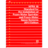 NFPA-16(15): Standard for the Installation of Foam-Water Sprinkler and Foam-Water Spray Systems