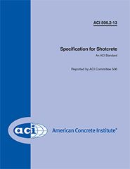 ACI-506.2-13 Specification for Shotcrete