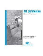 ACI-CP-60(09) ACI Certification - Craftsman Workbook for Shotcrete Nozzleman