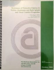 AA-RPF-1 Resistance for Protective Fabrics to Molten Aluminum